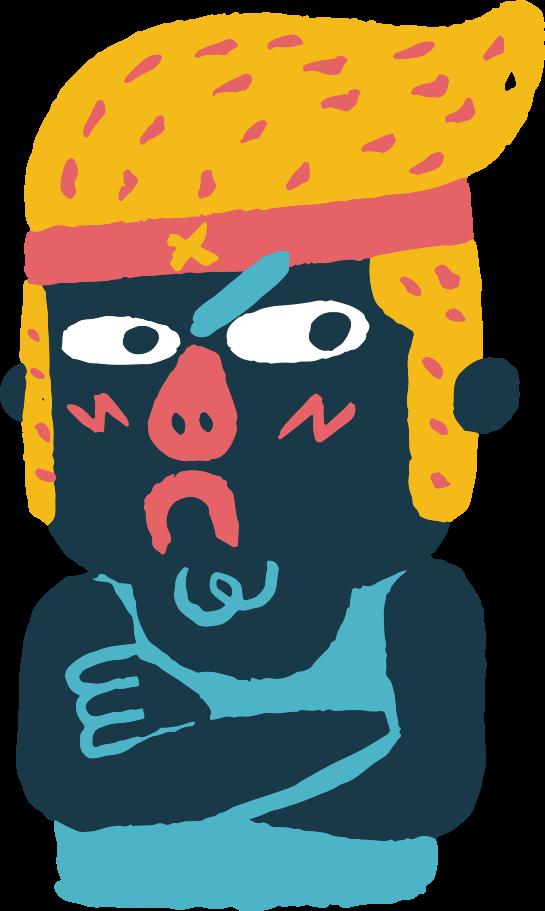 sad man Clipart illustration in PNG, SVG