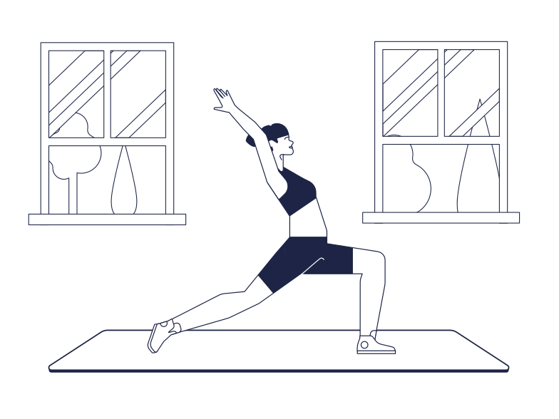 style Yoga at home Vector images in PNG and SVG | Icons8 Illustrations