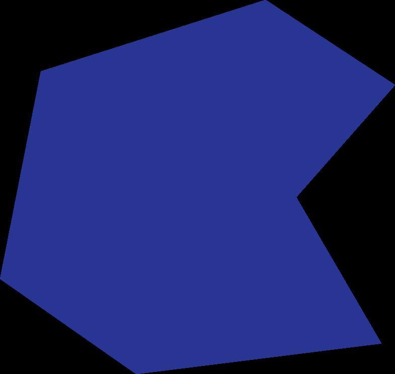 polygon dark blue Clipart illustration in PNG, SVG