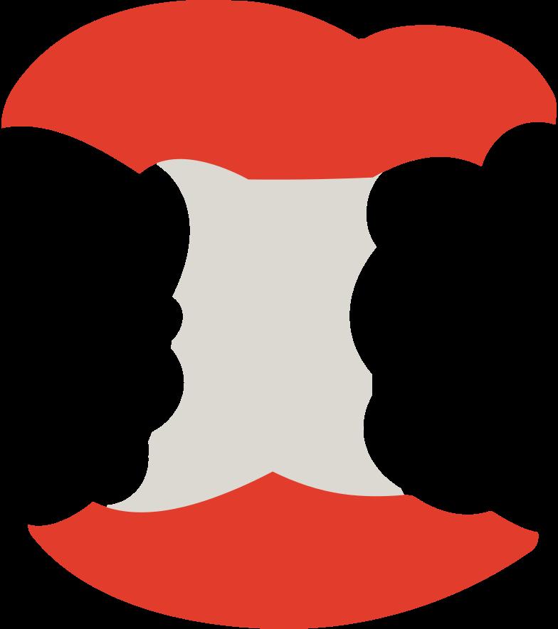 PNGとSVGの  スタイルの アップルコア ベクターイメージ | Icons8 イラスト