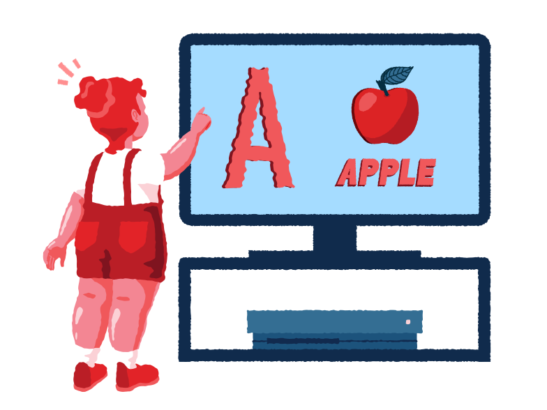 style  Girl learning alphabet Vector images in PNG and SVG | Icons8 Illustrations