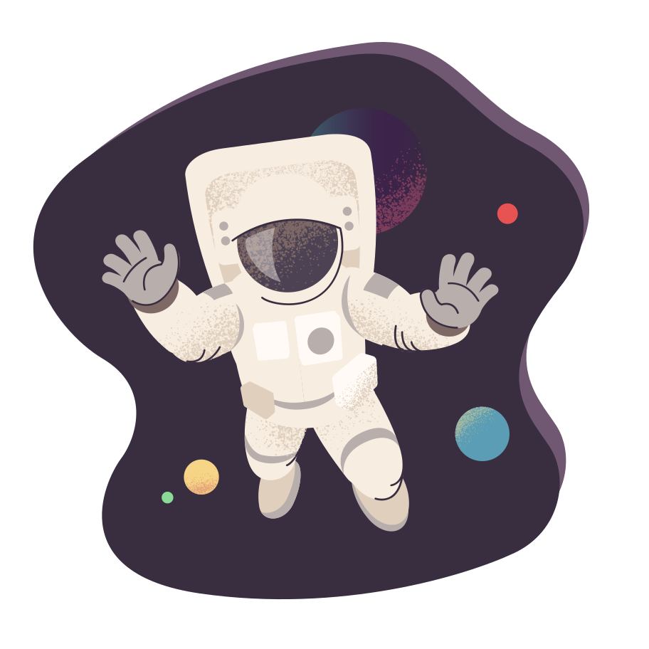 Astronaut in space Clipart illustration in PNG, SVG