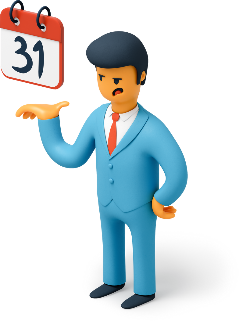 style Businessman with calendar Vector images in PNG and SVG | Icons8 Illustrations