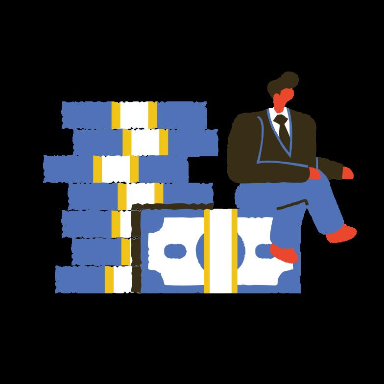 Business profit Clipart illustration in PNG, SVG