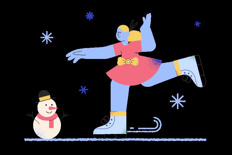 Figure skating Clipart illustration in PNG, SVG