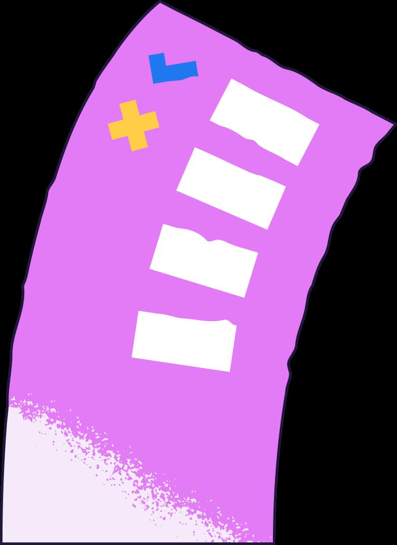 Ilustración de clipart de checklist en PNG, SVG