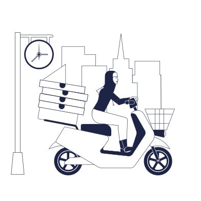 style Pizza Delivery images in PNG and SVG | Icons8 Illustrations