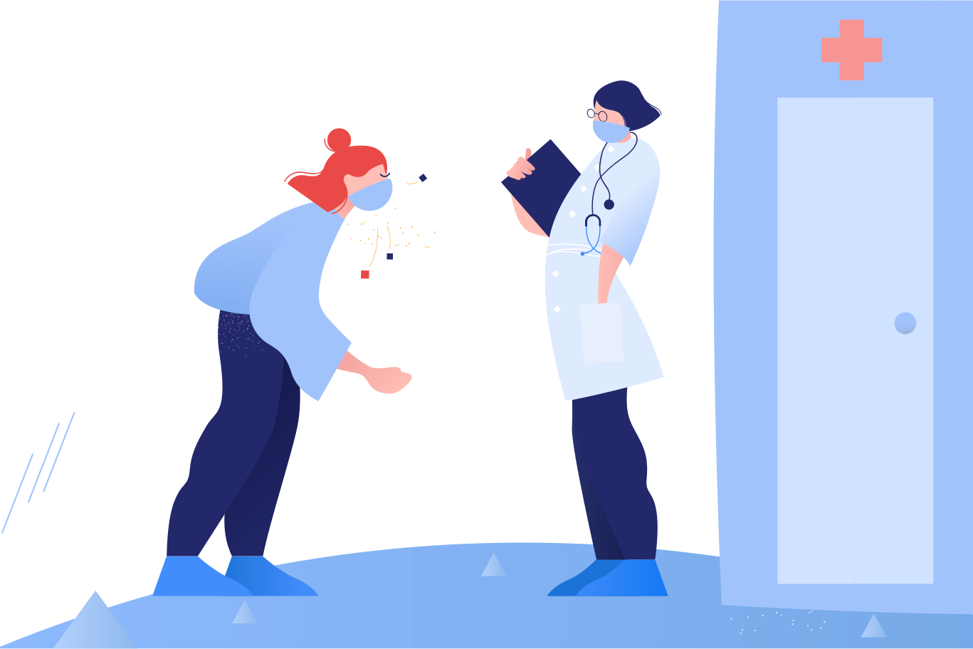 Doc, i need your help! Clipart illustration in PNG, SVG