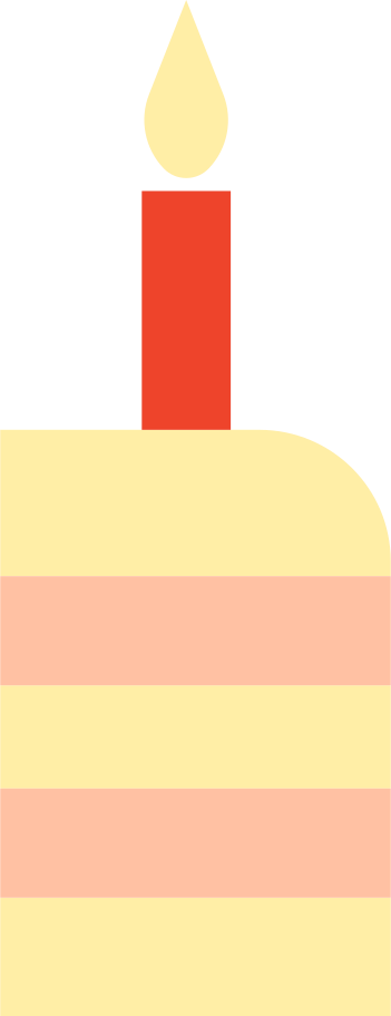 slice of birthday cake Clipart illustration in PNG, SVG