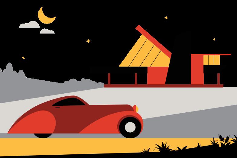 Modern house Clipart illustration in PNG, SVG