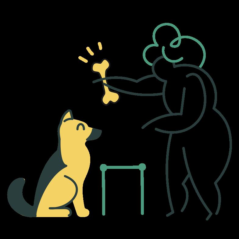 犬の訓練 のPNG、SVGクリップアートイラスト