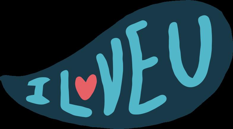 i love you Clipart illustration in PNG, SVG