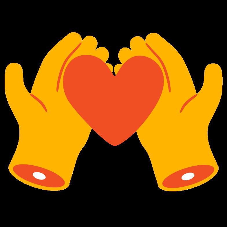 Love care Clipart illustration in PNG, SVG