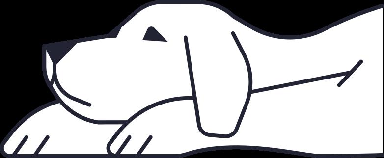 unsubscribed  dog Clipart illustration in PNG, SVG
