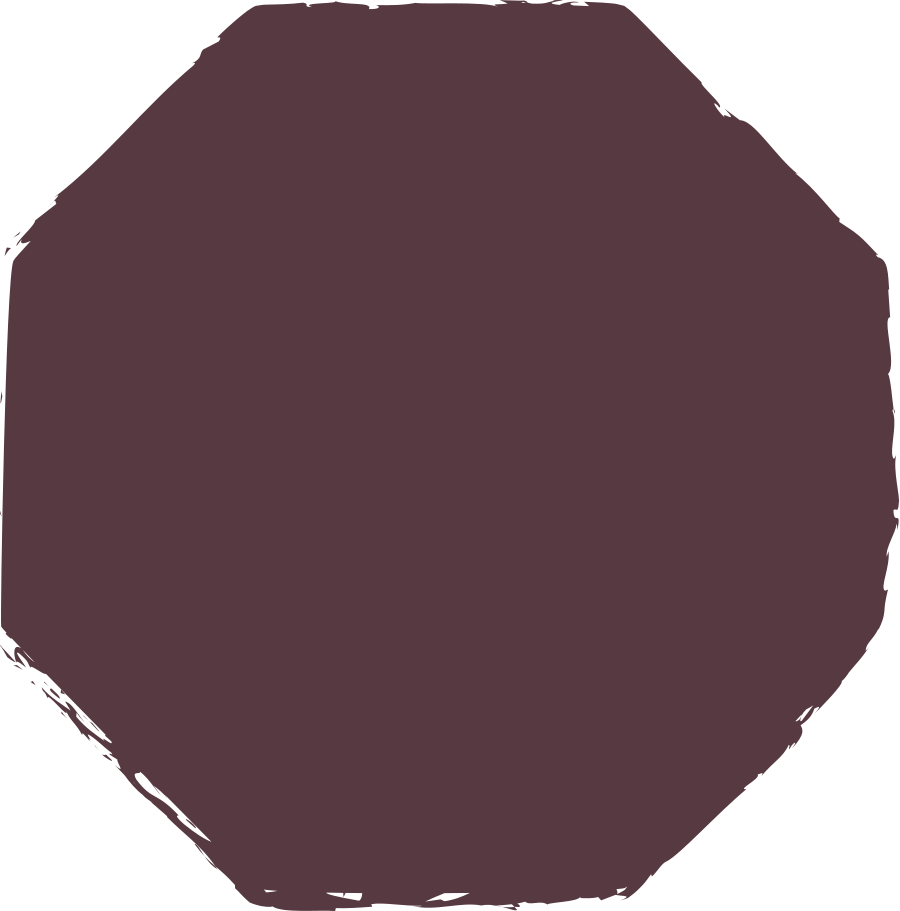 octagon-dark-brown Clipart illustration in PNG, SVG