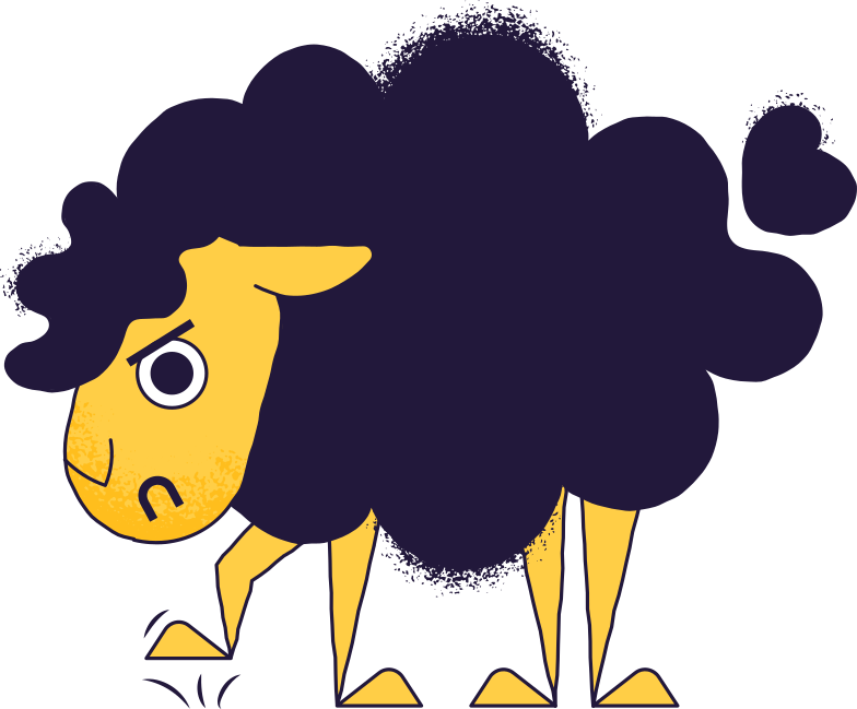 angry sheep Clipart illustration in PNG, SVG