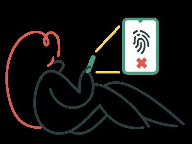 Иллюстрация Сбой идентификации касания в стиле  в PNG и SVG | Icons8 Иллюстрации