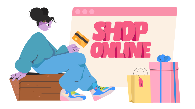 style Online Shopping Vector images in PNG and SVG | Icons8 Illustrations