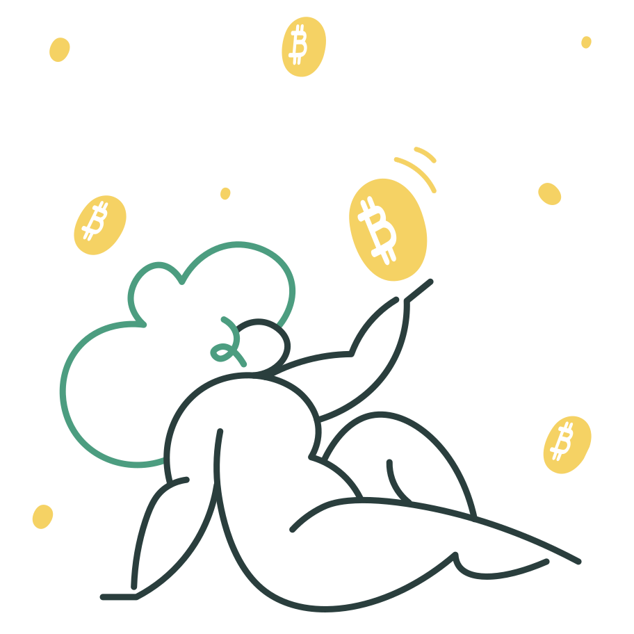 Bitcoin rain Clipart illustration in PNG, SVG