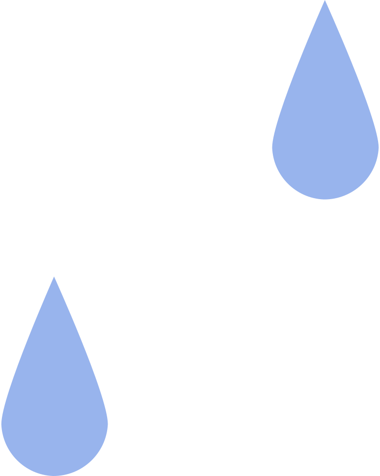 two drop Clipart illustration in PNG, SVG