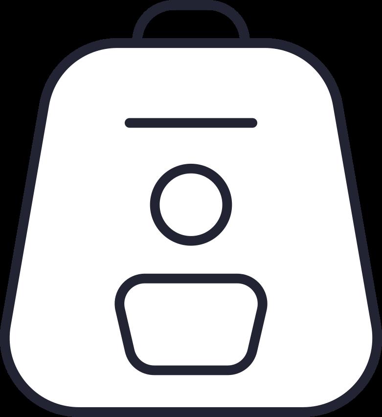 finance  backpack white Clipart illustration in PNG, SVG