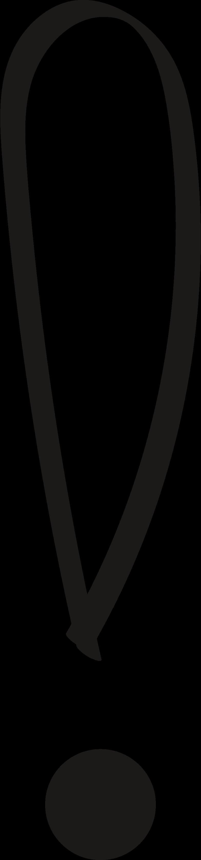 tk exclamation mark black Clipart illustration in PNG, SVG