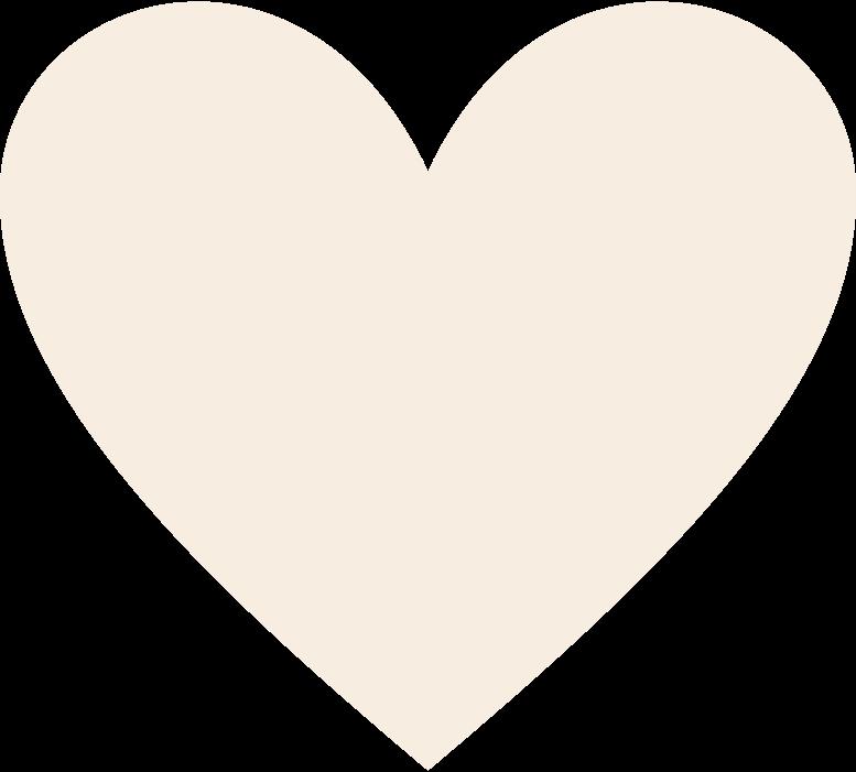 heart-beige Clipart illustration in PNG, SVG