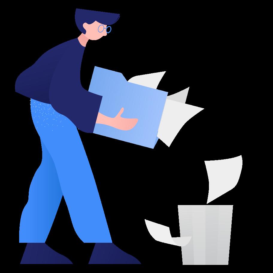 Deleting files Clipart illustration in PNG, SVG