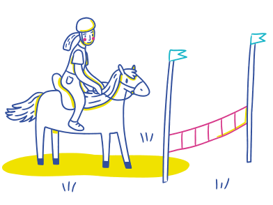 style Horse riding images in PNG and SVG | Icons8 Illustrations