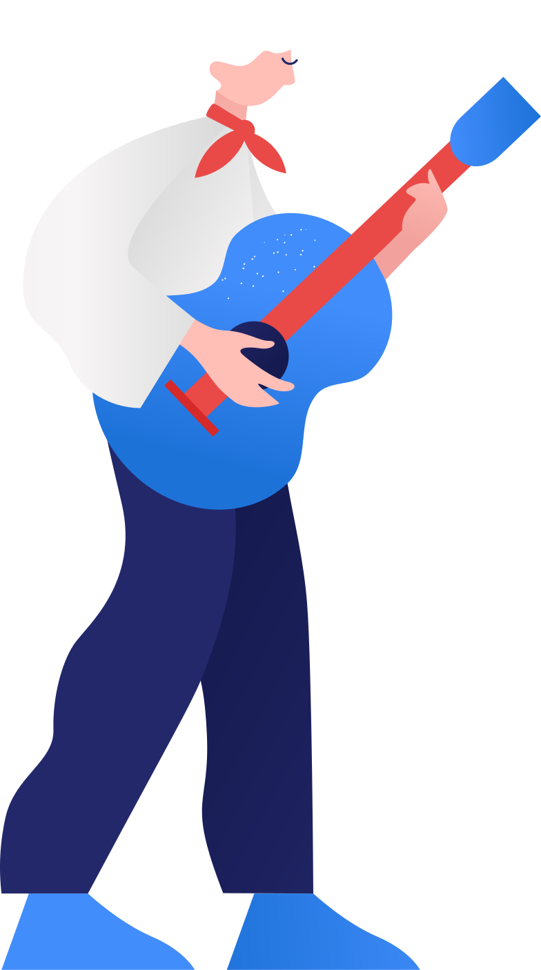 style guy with the guitar Vector images in PNG and SVG | Icons8 Illustrations