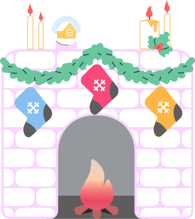 style fireplace decorated images in PNG and SVG   Icons8 Illustrations