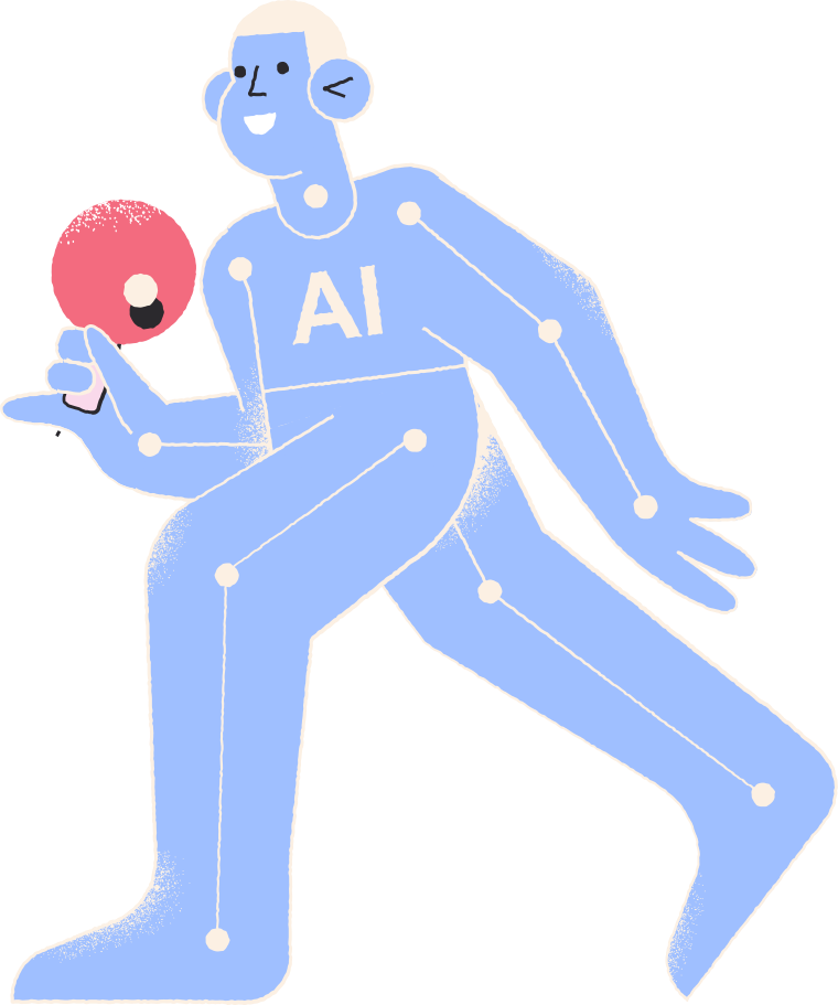 ai table tennis player Clipart illustration in PNG, SVG