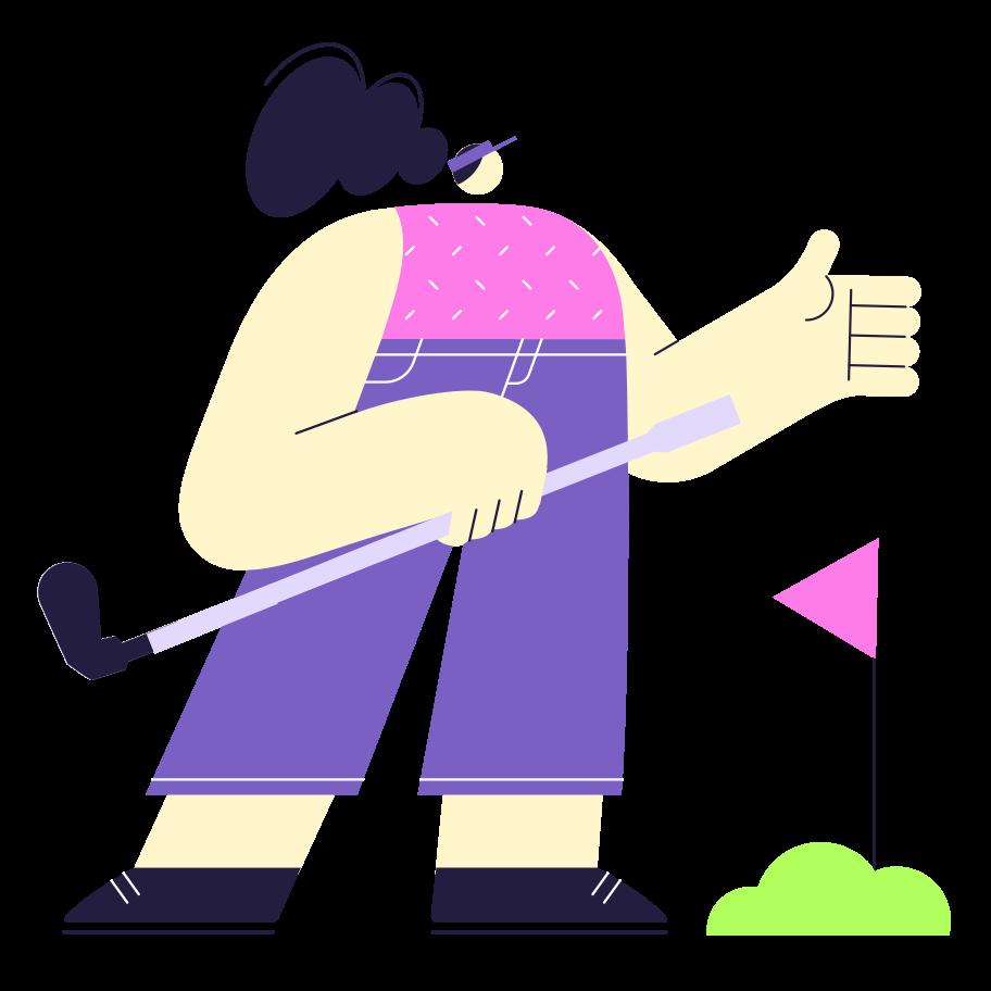 Golf Clipart illustration in PNG, SVG