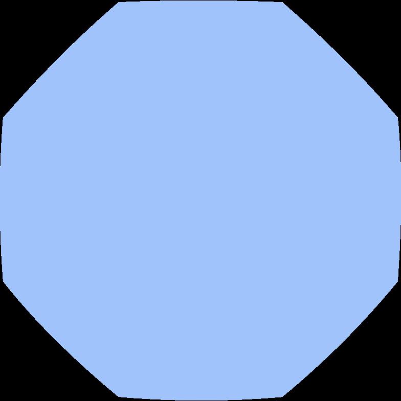 octagon blue Clipart illustration in PNG, SVG