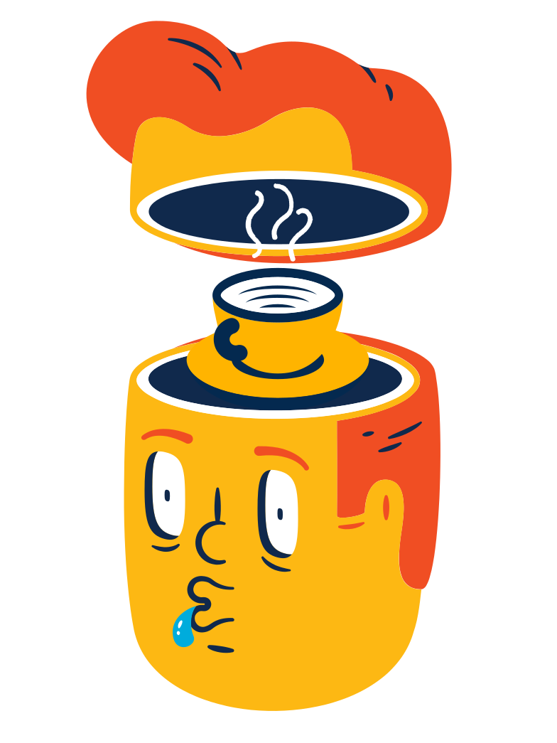 Desperately need some coffee Clipart illustration in PNG, SVG