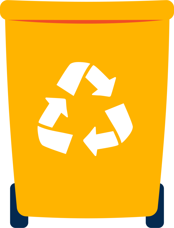 recycling bin Clipart illustration in PNG, SVG