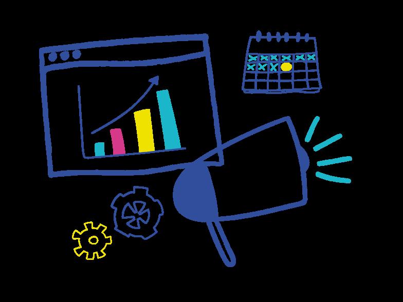 Digital marketing Clipart illustration in PNG, SVG