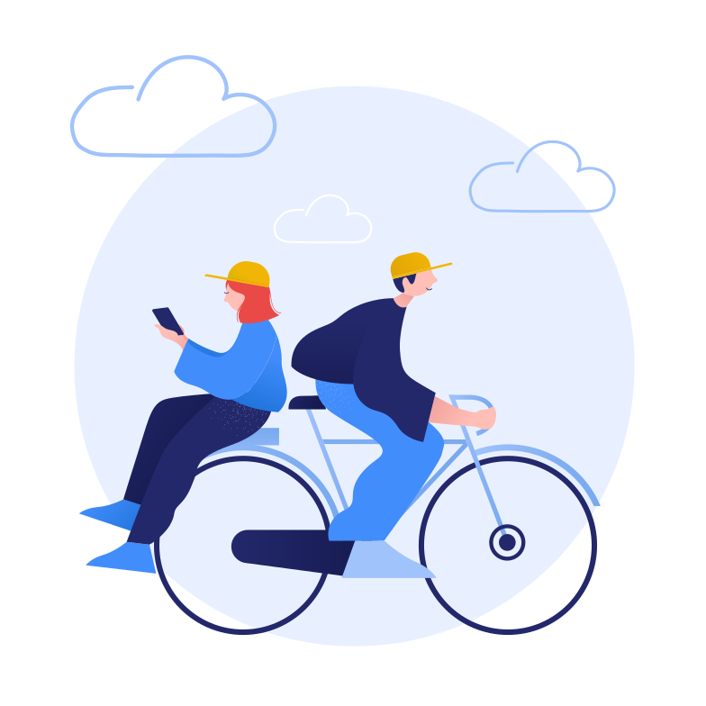 style Bicycle ride together Vector images in PNG and SVG | Icons8 Illustrations