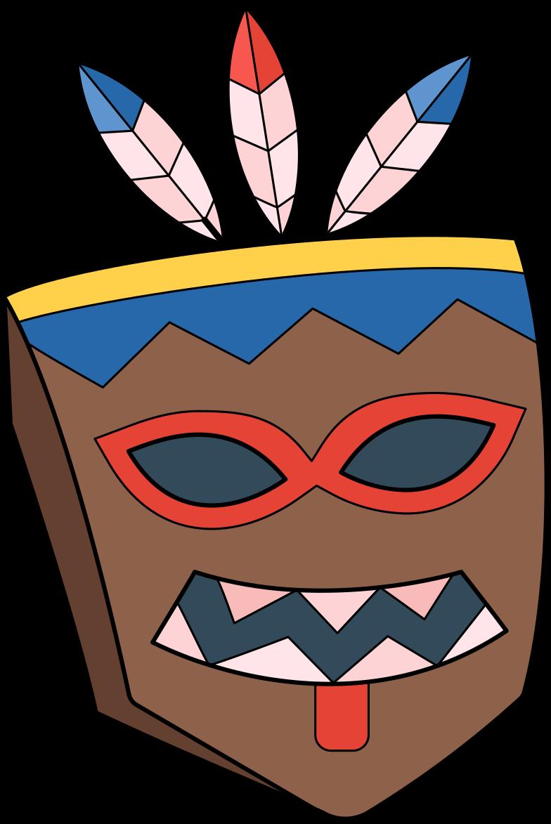 mask tiki Clipart illustration in PNG, SVG