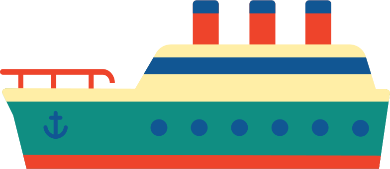 cruise ship Clipart illustration in PNG, SVG