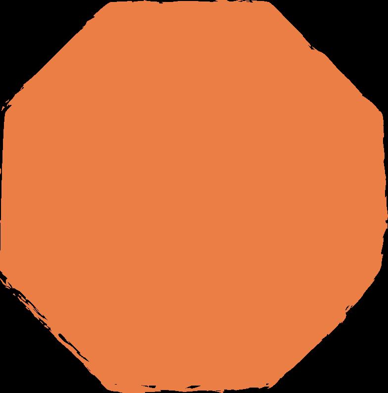 Achteck-orange Clipart-Grafik als PNG, SVG