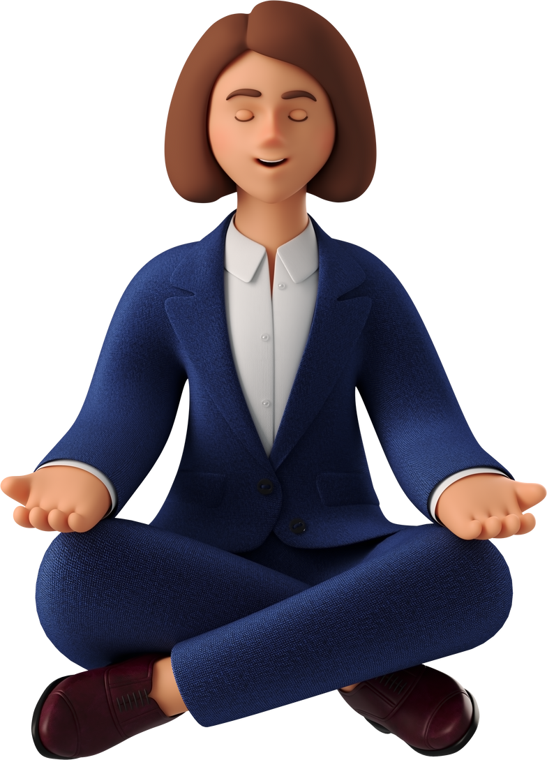 style new  meditation girl Vector images in PNG and SVG | Icons8 Illustrations