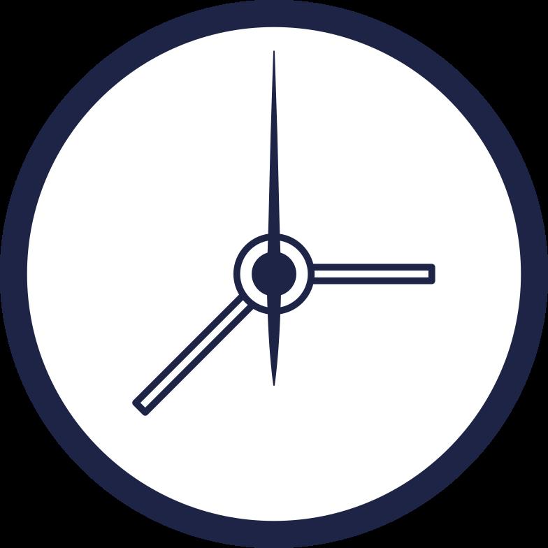 clock line Clipart illustration in PNG, SVG