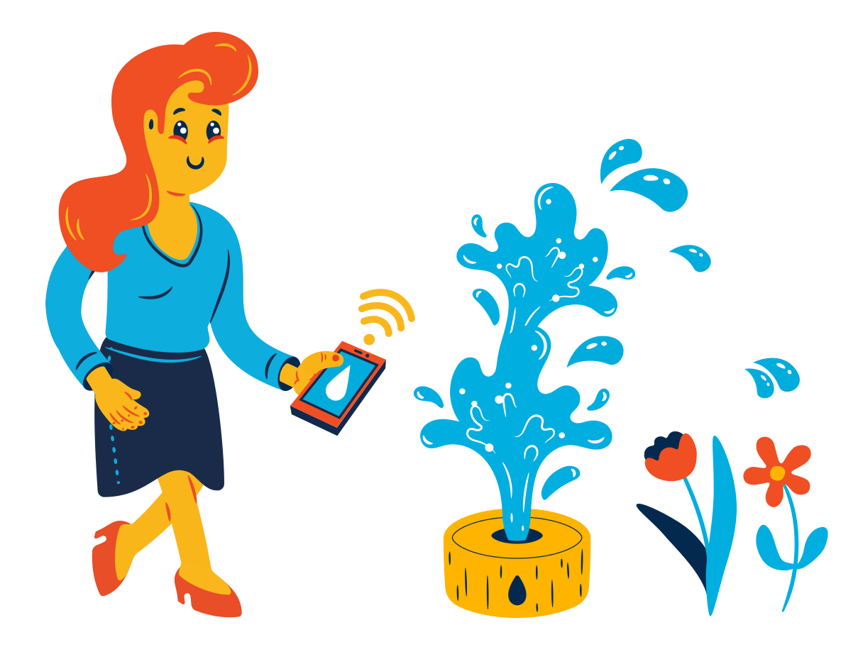 Automatic watering Clipart illustration in PNG, SVG