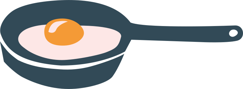 e frying pan with fried eggs Clipart illustration in PNG, SVG