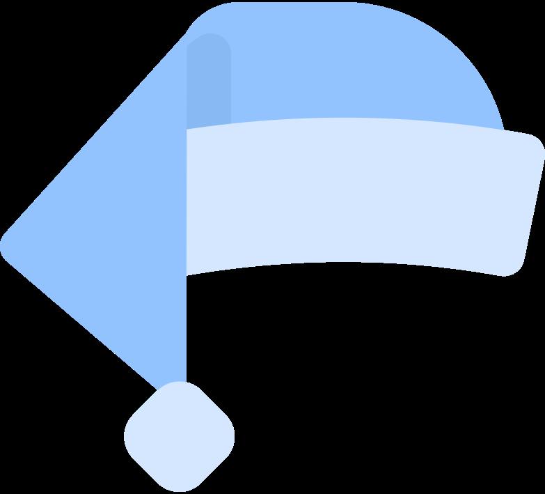 Ilustración de clipart de santa hat en PNG, SVG