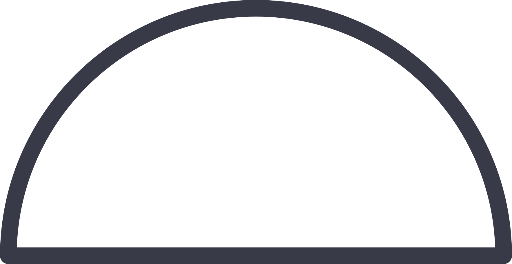 semicircle shape Clipart illustration in PNG, SVG