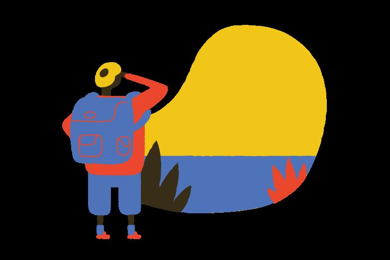 Backpacker Clipart illustration in PNG, SVG