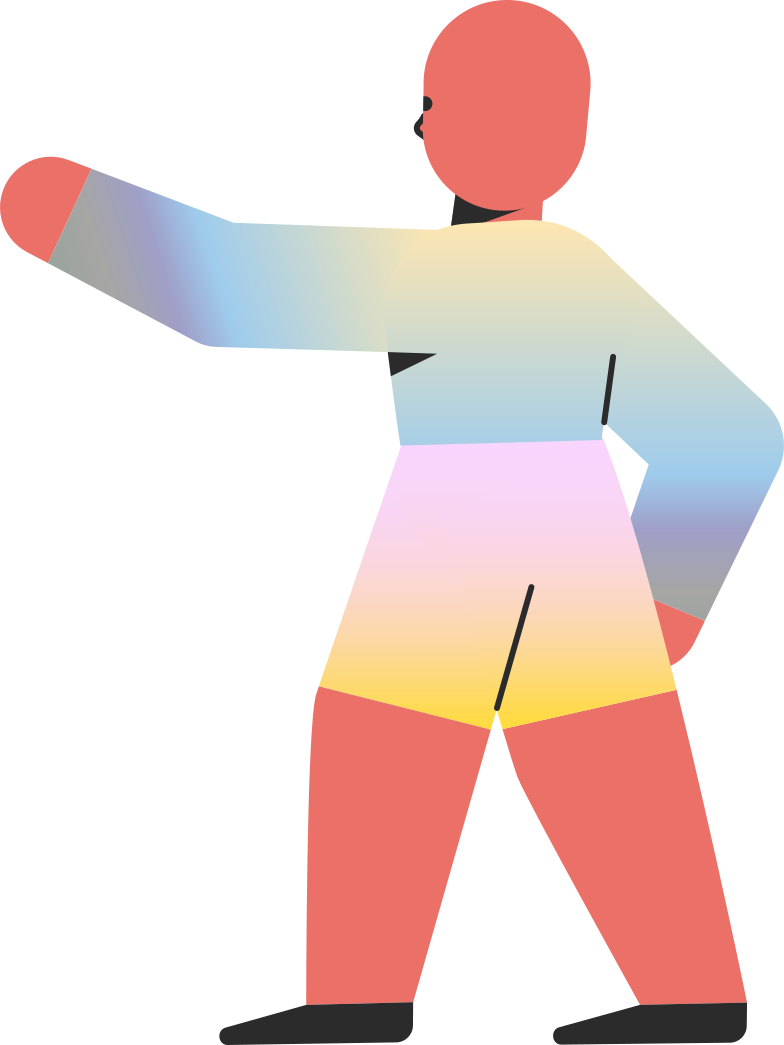 chilld pointing back Clipart illustration in PNG, SVG