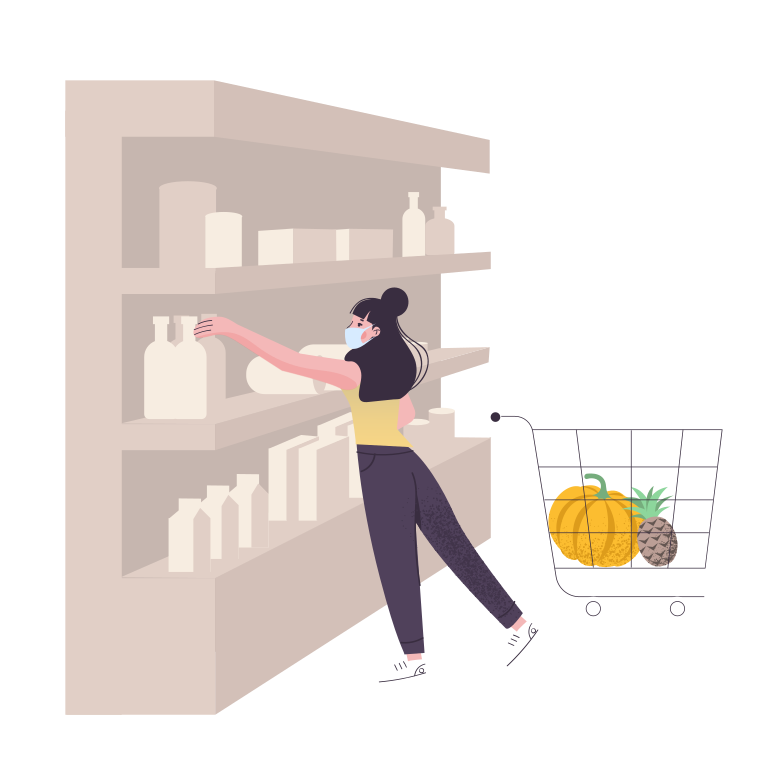 style Woman shopping at the supermarket Vector images in PNG and SVG | Icons8 Illustrations